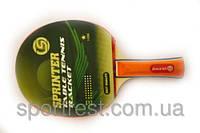 Ракетка для игры в настольный тенис Sprinter 1*, для начинающих игроков.