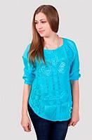 Женская летняя блуза на пуговицах