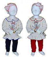 Велюровый костюм для девочки туника и лосины микки