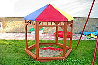 Песочница PLAY ZEE BO из дерева для детей