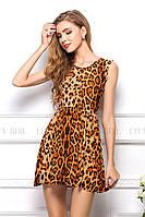 Платье женское летнее леопардовое