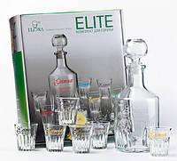 """Стеклянный набор графин и рюмки  """"Элит""""  06190 0,7 литров"""