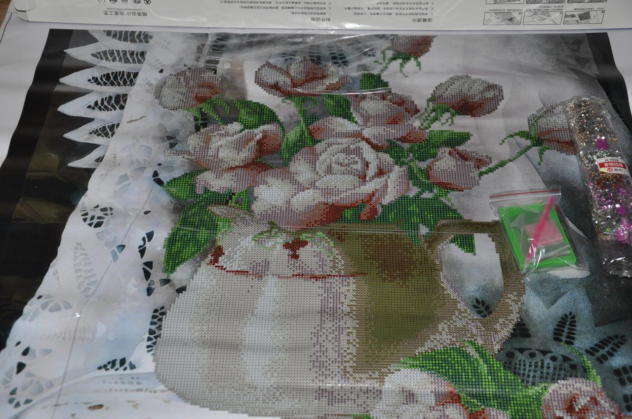 Вышивка роз крестом готовые работы фото
