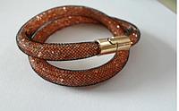 Хит продаж! Самый модный браслет Звездная пыль Stardurst, сеточка с кристаллами внутри, цвет - золото