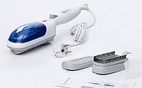 Парогенератор steam brush, паровая щётка с ручкой, чистка и вертикальная глажка одежды, отпаривание, 2 насадки