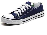 Синие кеды низкие текстиль мужские шнурок Converse, фото 1
