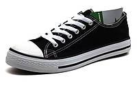 Кеды текстиль черые мужские шнурок Converse, фото 1