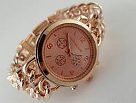 Часы женские Michael Kors плетеный двойной браслет в розовом цвете