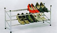 Полочка под обувь раздвижная хром