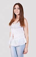 Однотонная женская блуза с коротким рукавом