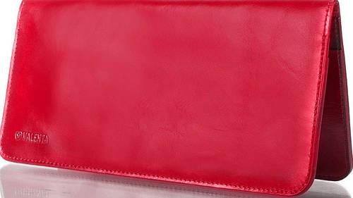 Женская яркая кожаная обложка для документов и авиабилетов VALENTA (ВАЛЕНТА) VXP59453