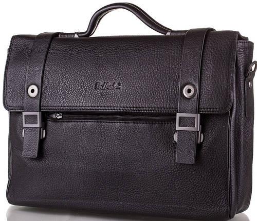 Мужской кожаный портфель ROCKFELD (РОКФЕЛД) DS20-020373 черный