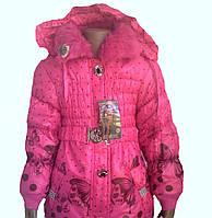 Детская  Куртка для девочек с бабочками 4-6 лет