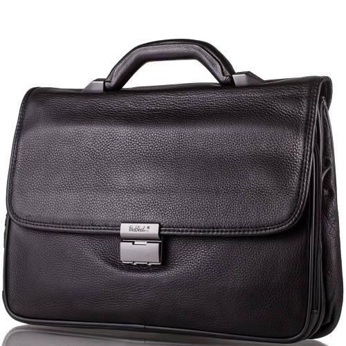 Мужской кожаный портфель ROCKFELD (РОКФЕЛД) DS03-020486 черный