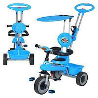 Детский трёхколёсный велосипед M 5366-1 голубой