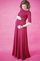 Длинное женское платье в пол для беременных