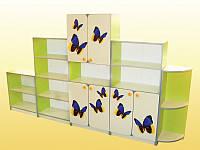 Стенка  из 5-ти элементов с бабочками