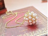 Подвеска ожерелье Жемчужный шарик