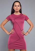 Женское платье цвета вишни с вырезами на плечах MM30020