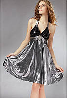 Коктейльное платье стального цвета B7515