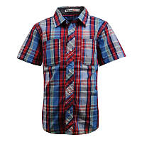 Модная рубашка с коротким рукавом; 98, 104, 110, 116 р-ры
