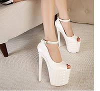 Туфли супер высокий каблук 19 см  3 цвета