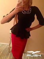 Костюм-двойка юбка  с баской