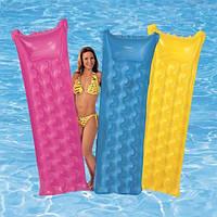 """Пляжный надувной матрас Intex, 59718 """"Relax-A-Mat"""" ,183*69 см"""