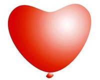 Воздушные шарики Gemar Сердце пастель КРАСНОЕ, 6' (15 см), 100 шт
