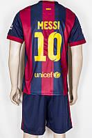 Футбольная форма Барселона сине - гранатовая Месси, на рост 115 см