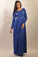 Элегантное  платье из трикотажа в пол