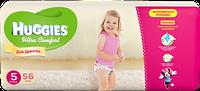 Подгузники Хаггис Huggies Ultra Comfort для девочек 5 (12-22 кг) 56 шт.