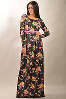 Платье в пол - модное и яркое