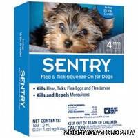 SENTRY (Сентри) капли от блох, клещей и комаров для собак до 7кг