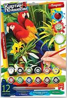 """Набор для творчества Danko Toys """"Картины по номерам. Попугаи"""""""