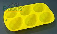 """Форма для выпечки силиконовая 26x17x3,2 см Fissman  """"Пасхальное яйцо"""" желтая (PR-6702.BW)"""
