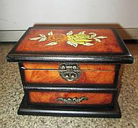 Подарок для женщины - Шкатулка комод деревянная расписная