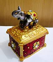 Сувенир Шкатулочка Слон 60*50*90