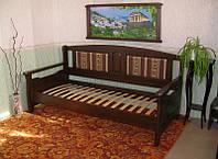 Деревянный диван кровать