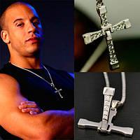 Крест Доминика Торетто с цепочкой, крест на цепочке, крест Доминика Торетто, крест из форсажа, крутой крестик, крест вин дизеля, оригинальный подарок