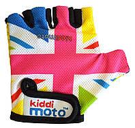 Перчатки детские Kiddi Moto британский флаг в цветах радуги, размер S на возраст 2-4 года