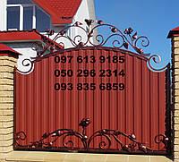 Кованный забор с профнастилом (790)., фото 1