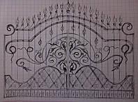 Кованные ворота (проэкт)