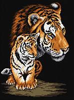 Набор для рисования камнями (холст) Тигрица и тигренок LasKo