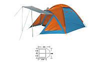 Палатка 4х местная BL-1009 DOME TENT ((1,50+2,10)*3,00*1,85/1,70м, PL)
