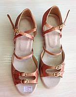 Бальные детские атласные туфли с пряжками