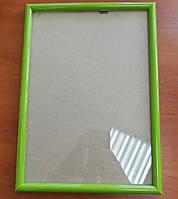 Рамка А4 зеленого цвета для фото и дипломов