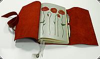 Блокнот кожаный Маки