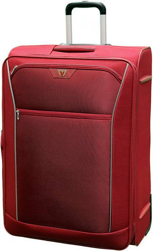 Удобный большой тканевый чемодан 2-х колесный 90/100 л. Roncato Ready 3301/89 красный