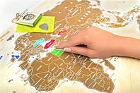 Скретч-карта мира Travel map золото, русс.